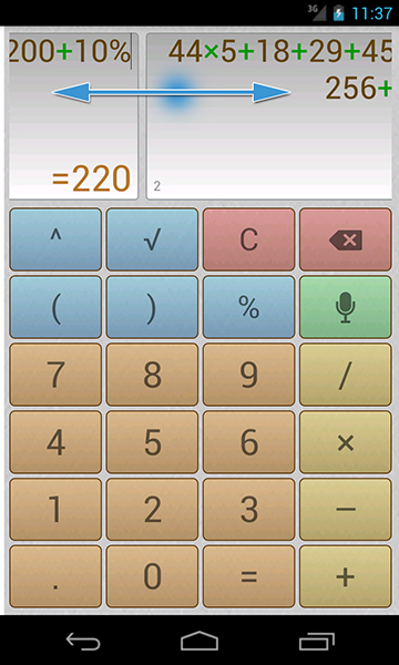 Calculator with voice input for everyday use for Android devices
